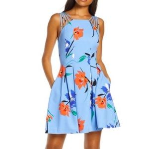 Vince Camuto Multistrap Fit & Flare Dress NWT